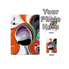 Abstract Orb In Orange, Purple, Green, And Black Playing Cards 54 (mini)  by theunrulyartist