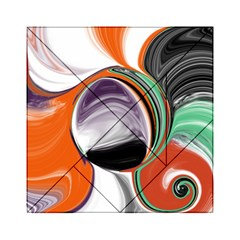 Abstract Orb In Orange, Purple, Green, And Black Acrylic Tangram Puzzle (6  X 6 ) by theunrulyartist