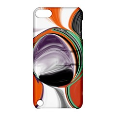 Abstract Orb In Orange, Purple, Green, And Black Apple Ipod Touch 5 Hardshell Case With Stand by digitaldivadesigns