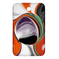 Abstract Orb In Orange, Purple, Green, And Black Samsung Galaxy Tab 3 (7 ) P3200 Hardshell Case  by theunrulyartist
