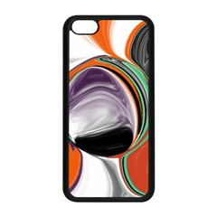 Abstract Orb In Orange, Purple, Green, And Black Apple Iphone 5c Seamless Case (black) by theunrulyartist