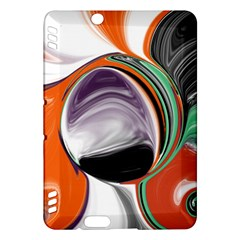 Abstract Orb In Orange, Purple, Green, And Black Kindle Fire Hdx Hardshell Case by theunrulyartist