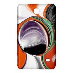 Abstract Orb in Orange, Purple, Green, and Black Samsung Galaxy Tab 4 (8 ) Hardshell Case  by theunrulyartist