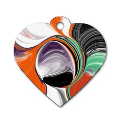 Abstract Orb Dog Tag Heart (two Sides) by theunrulyartist
