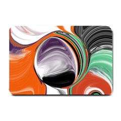 Abstract Orb Small Doormat  by theunrulyartist