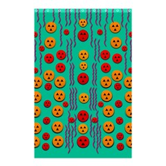 Pumkins Dancing In The Season Pop Art Shower Curtain 48  X 72  (small)  by pepitasart