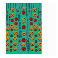 Pumkins Dancing In The Season Pop Art Large Garden Flag (two Sides) by pepitasart