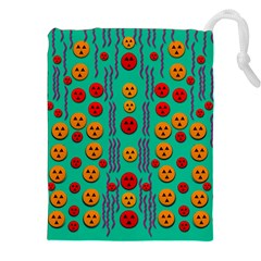 Pumkins Dancing In The Season Pop Art Drawstring Pouches (xxl) by pepitasart