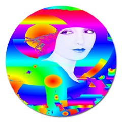 Abstract Color Dream Magnet 5  (round) by icarusismartdesigns