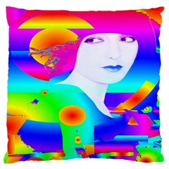 Abstract Color Dream Large Cushion Case (two Sides) by icarusismartdesigns