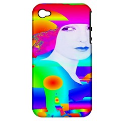 Abstract Color Dream Apple Iphone 4/4s Hardshell Case (pc+silicone) by icarusismartdesigns