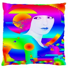 Abstract Color Dream Large Flano Cushion Case (Two Sides) by icarusismartdesigns