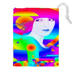 Abstract Color Dream Drawstring Pouches (xxl) by icarusismartdesigns