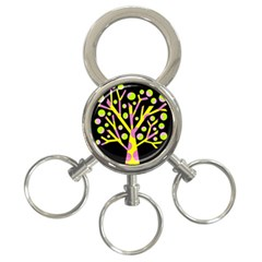 Simple Colorful Tree 3 Ring Key Chains by Valentinaart