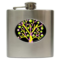 Simple Colorful Tree Hip Flask (6 Oz) by Valentinaart