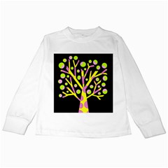 Simple Colorful Tree Kids Long Sleeve T Shirts by Valentinaart