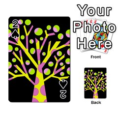 Simple Colorful Tree Playing Cards 54 Designs  by Valentinaart
