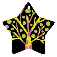 Simple Colorful Tree Star Ornament (two Sides)  by Valentinaart