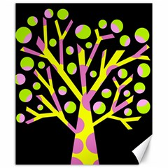 Simple Colorful Tree Canvas 20  X 24   by Valentinaart