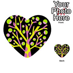 Simple Colorful Tree Multi Purpose Cards (heart)  by Valentinaart
