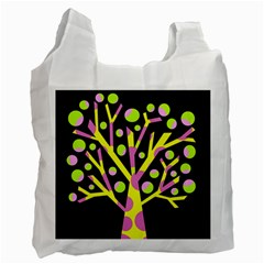 Simple Colorful Tree Recycle Bag (one Side) by Valentinaart
