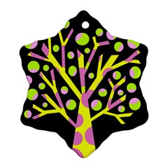 Simple Colorful Tree Snowflake Ornament (2 Side) by Valentinaart