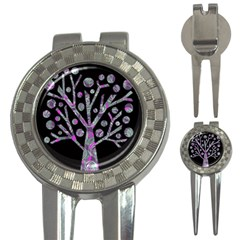 Purple Magical Tree 3 In 1 Golf Divots by Valentinaart