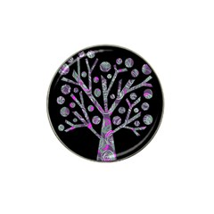 Purple Magical Tree Hat Clip Ball Marker by Valentinaart