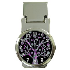 Purple Magical Tree Money Clip Watches by Valentinaart