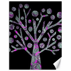 Purple Magical Tree Canvas 18  X 24   by Valentinaart