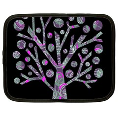 Purple Magical Tree Netbook Case (xl)  by Valentinaart