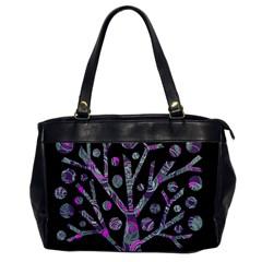 Purple Magical Tree Office Handbags by Valentinaart