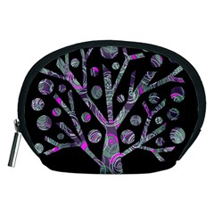 Purple Magical Tree Accessory Pouches (medium)  by Valentinaart