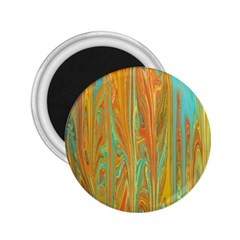 Beautiful Abstract In Orange, Aqua, Gold 2 25  Magnets by theunrulyartist