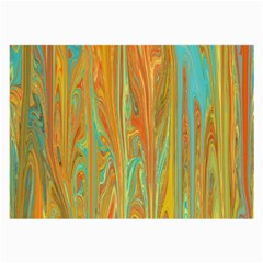 Beautiful Abstract In Orange, Aqua, Gold Large Glasses Cloth (2 Side) by theunrulyartist