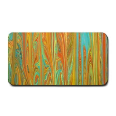 Beautiful Abstract In Orange, Aqua, Gold Medium Bar Mats by theunrulyartist