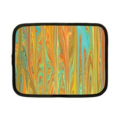 Beautiful Abstract In Orange, Aqua, Gold Netbook Case (small)  by theunrulyartist