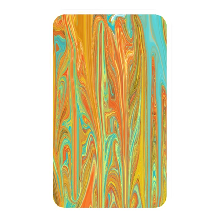 Beautiful Abstract in Orange, Aqua, Gold Memory Card Reader