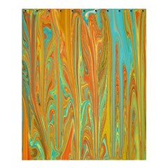Beautiful Abstract In Orange, Aqua, Gold Shower Curtain 60  X 72  (medium)  by theunrulyartist