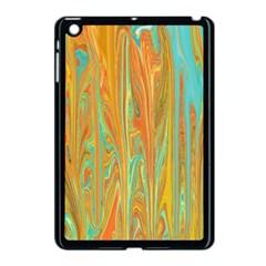 Beautiful Abstract In Orange, Aqua, Gold Apple Ipad Mini Case (black) by digitaldivadesigns
