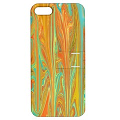 Beautiful Abstract In Orange, Aqua, Gold Apple Iphone 5 Hardshell Case With Stand by theunrulyartist