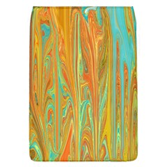 Beautiful Abstract In Orange, Aqua, Gold Flap Covers (l)  by theunrulyartist