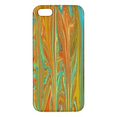 Beautiful Abstract In Orange, Aqua, Gold Iphone 5s/ Se Premium Hardshell Case by theunrulyartist