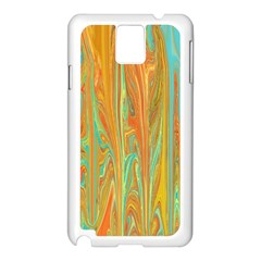 Beautiful Abstract In Orange, Aqua, Gold Samsung Galaxy Note 3 N9005 Case (white) by theunrulyartist