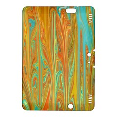 Beautiful Abstract In Orange, Aqua, Gold Kindle Fire Hdx 8 9  Hardshell Case by theunrulyartist
