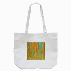 Beautiful Abstract In Orange, Aqua, Gold Tote Bag (white) by theunrulyartist