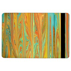 Beautiful Abstract In Orange, Aqua, Gold Ipad Air 2 Flip by theunrulyartist