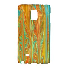 Beautiful Abstract In Orange, Aqua, Gold Galaxy Note Edge by theunrulyartist