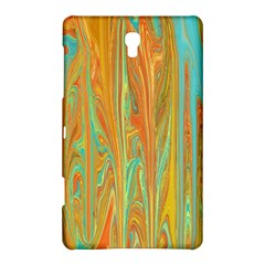 Beautiful Abstract in Orange, Aqua, Gold Samsung Galaxy Tab S (8.4 ) Hardshell Case  by theunrulyartist