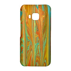 Beautiful Abstract in Orange, Aqua, Gold HTC One M9 Hardshell Case by theunrulyartist
